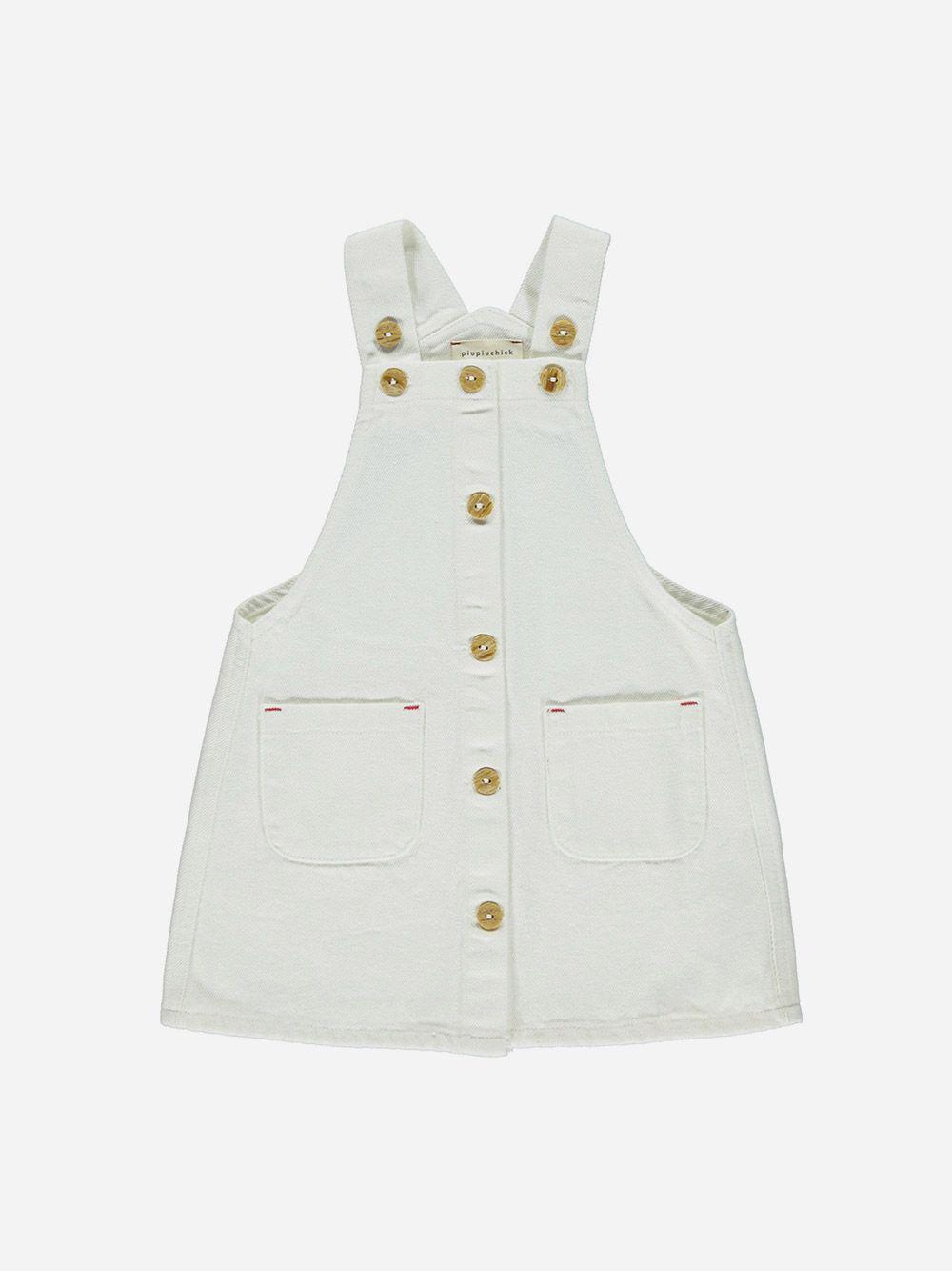 Vestido Jardineira Branco   Piupiuchick