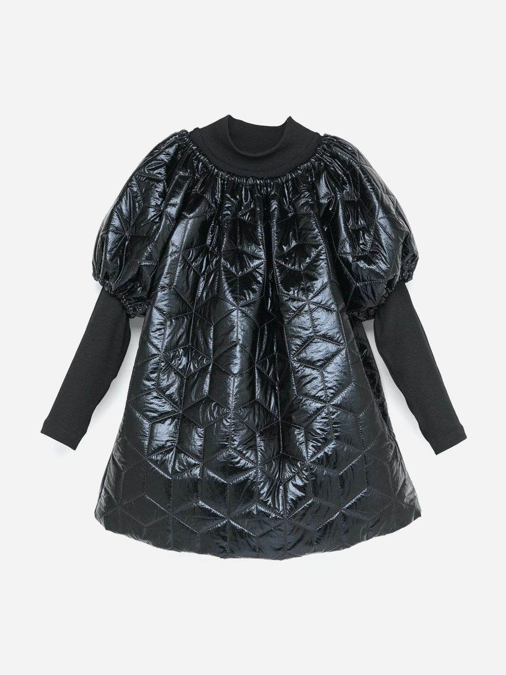 Oversized Puffer Dress Black
