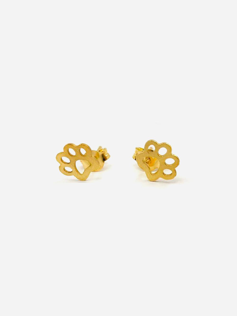Gold Earrings Dog Footprint | Made to Envy