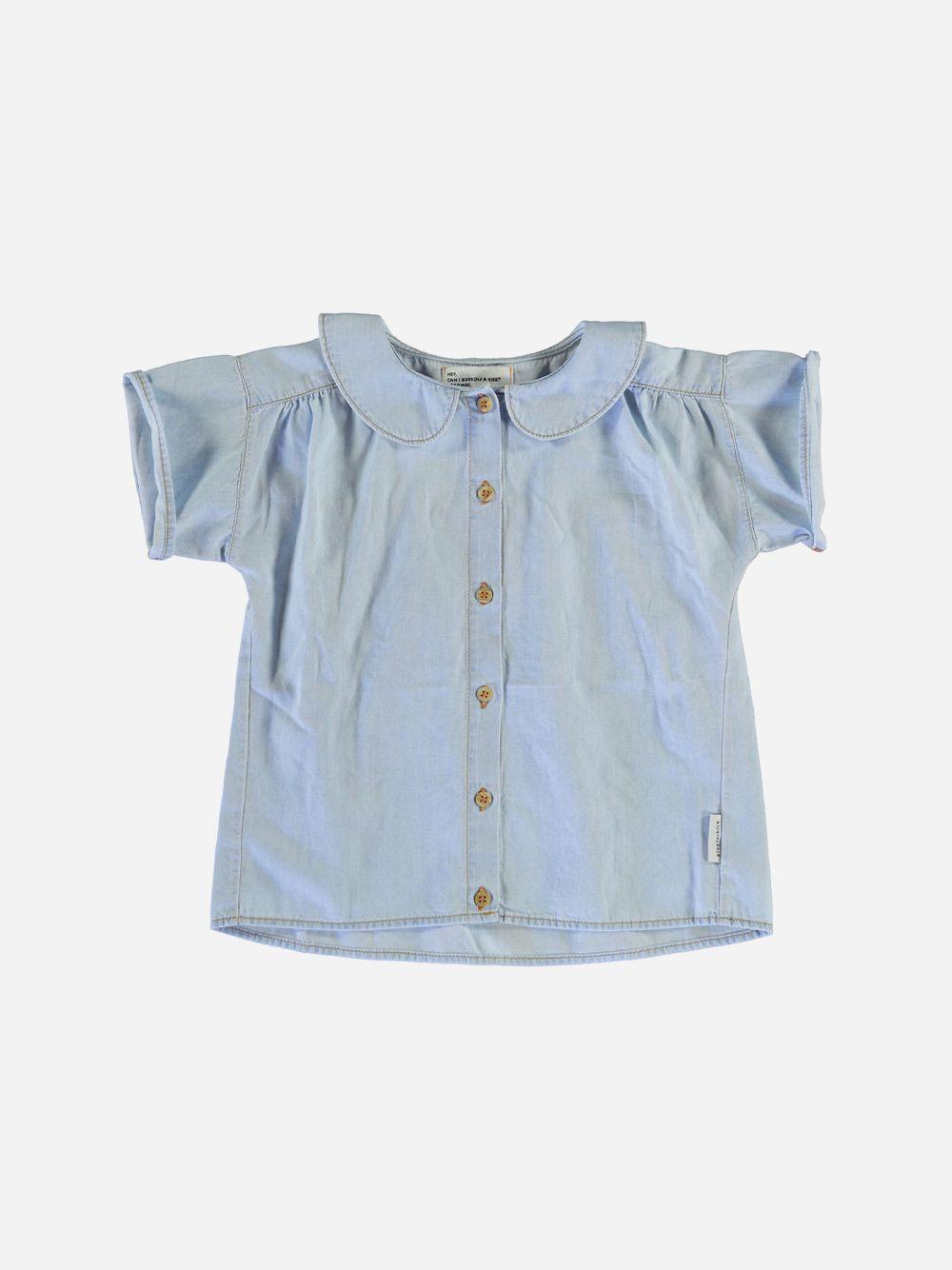 Peter Pan Shirt Light Blue Washed Denim