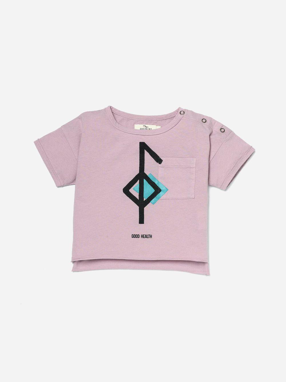 Printed Pocket T-shirt Lavender