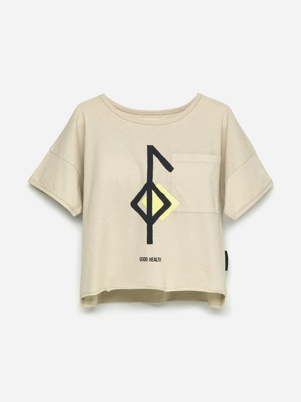 Printed Pocket T-shirt Sand