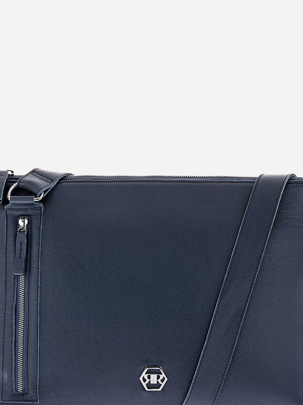 Tiracolo Azul em Pele | Rufel