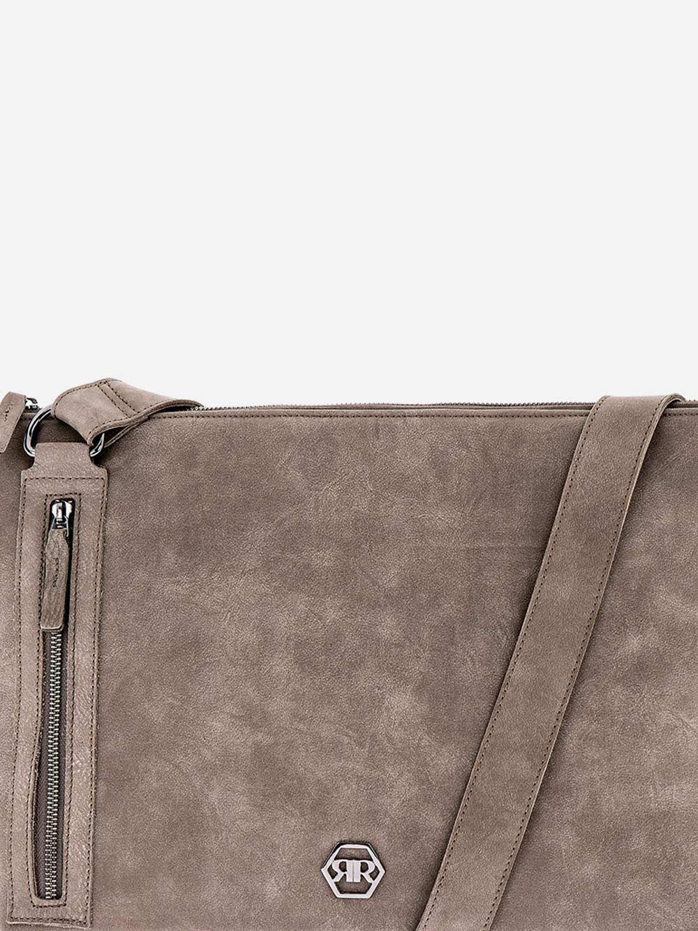 Tiracolo Cinza em Pele  | Rufel