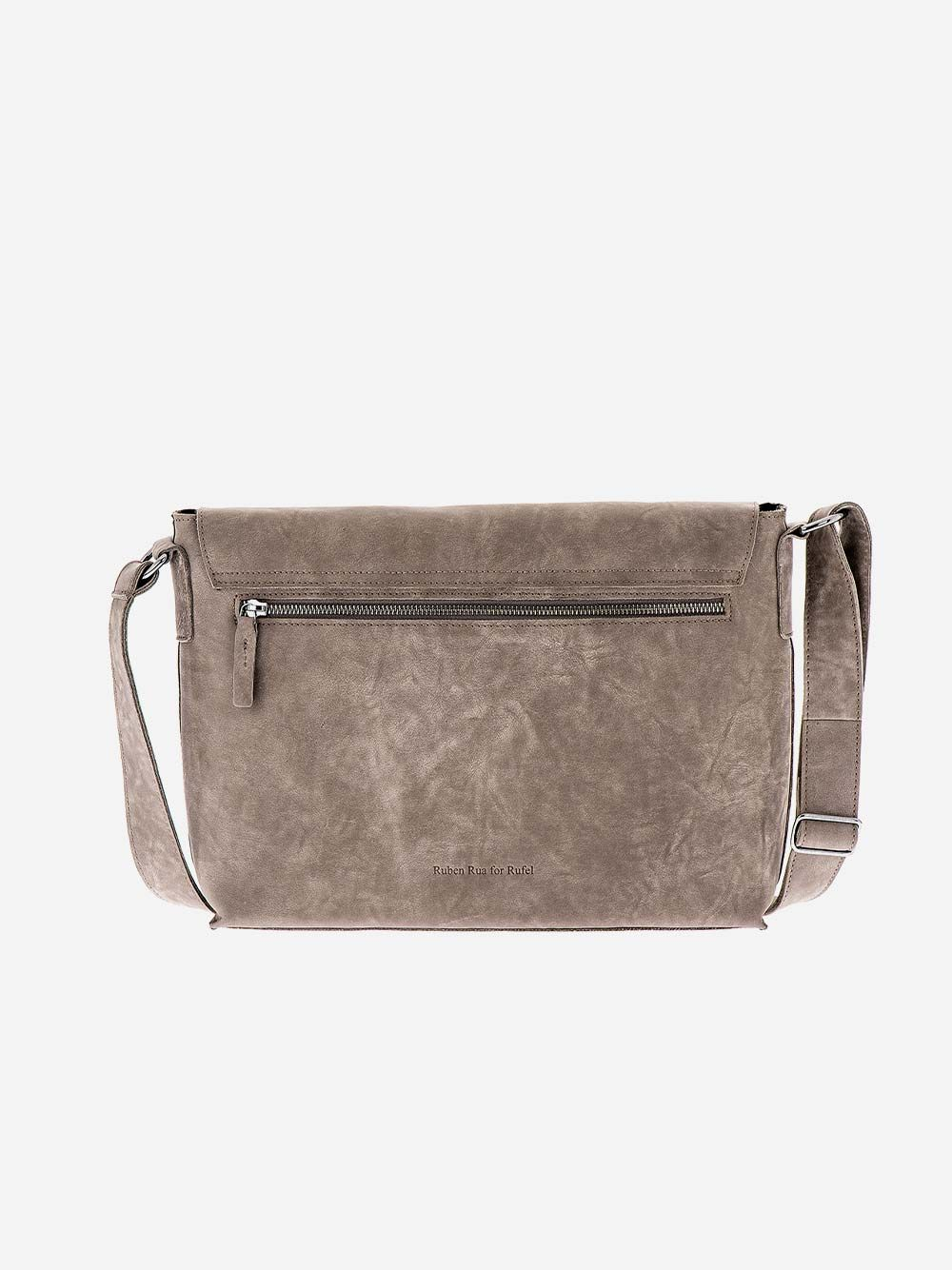 Grey Rectangular Crossbody | Rufel