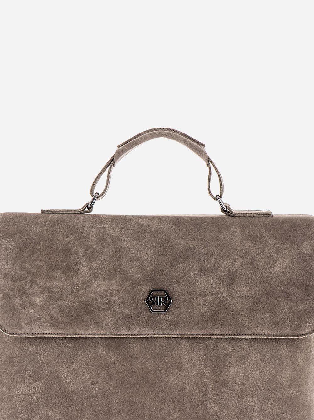 Rustic Grey Briefcase | Rufel