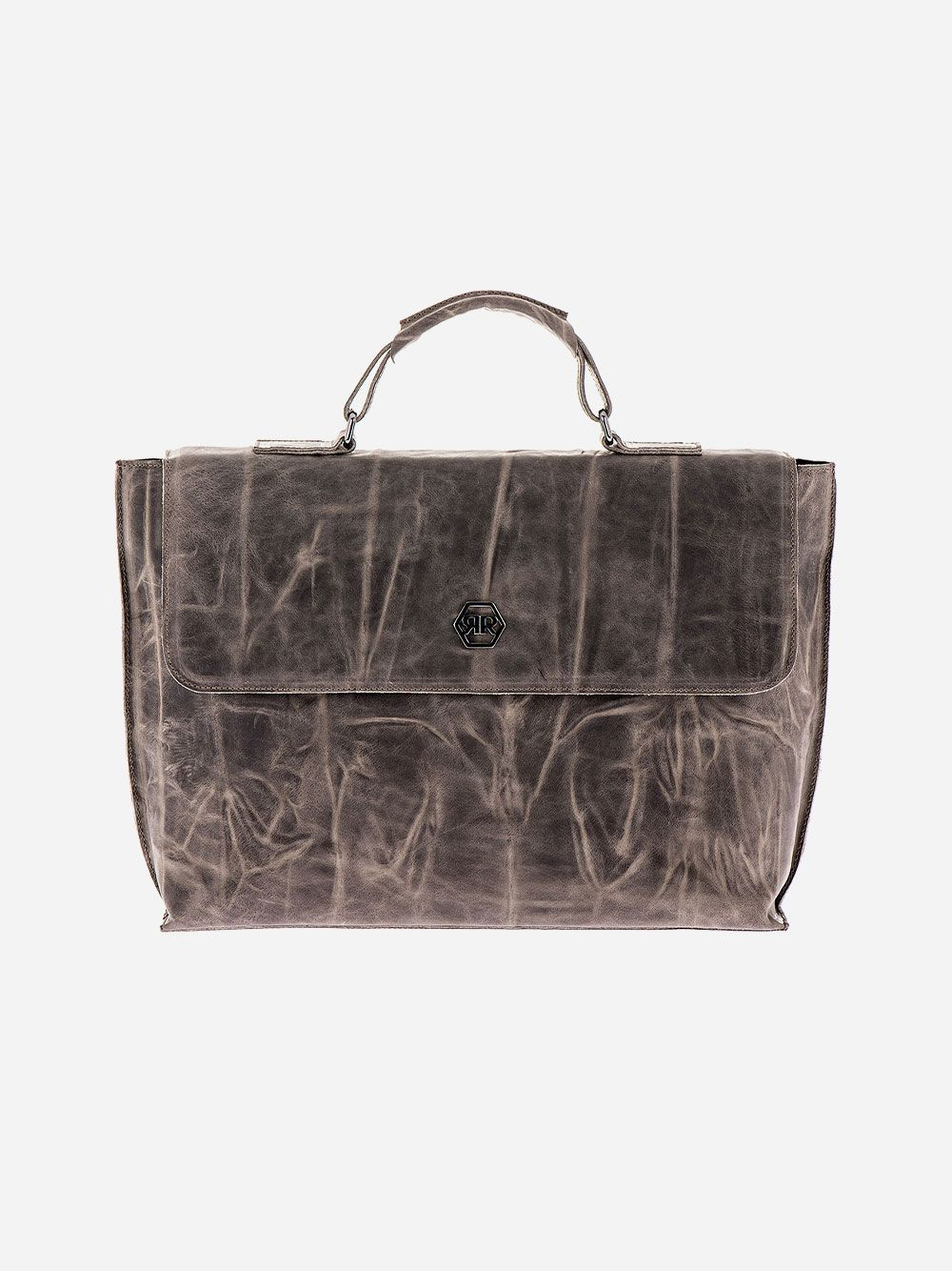 Old Taupe Briefcase | Rufel
