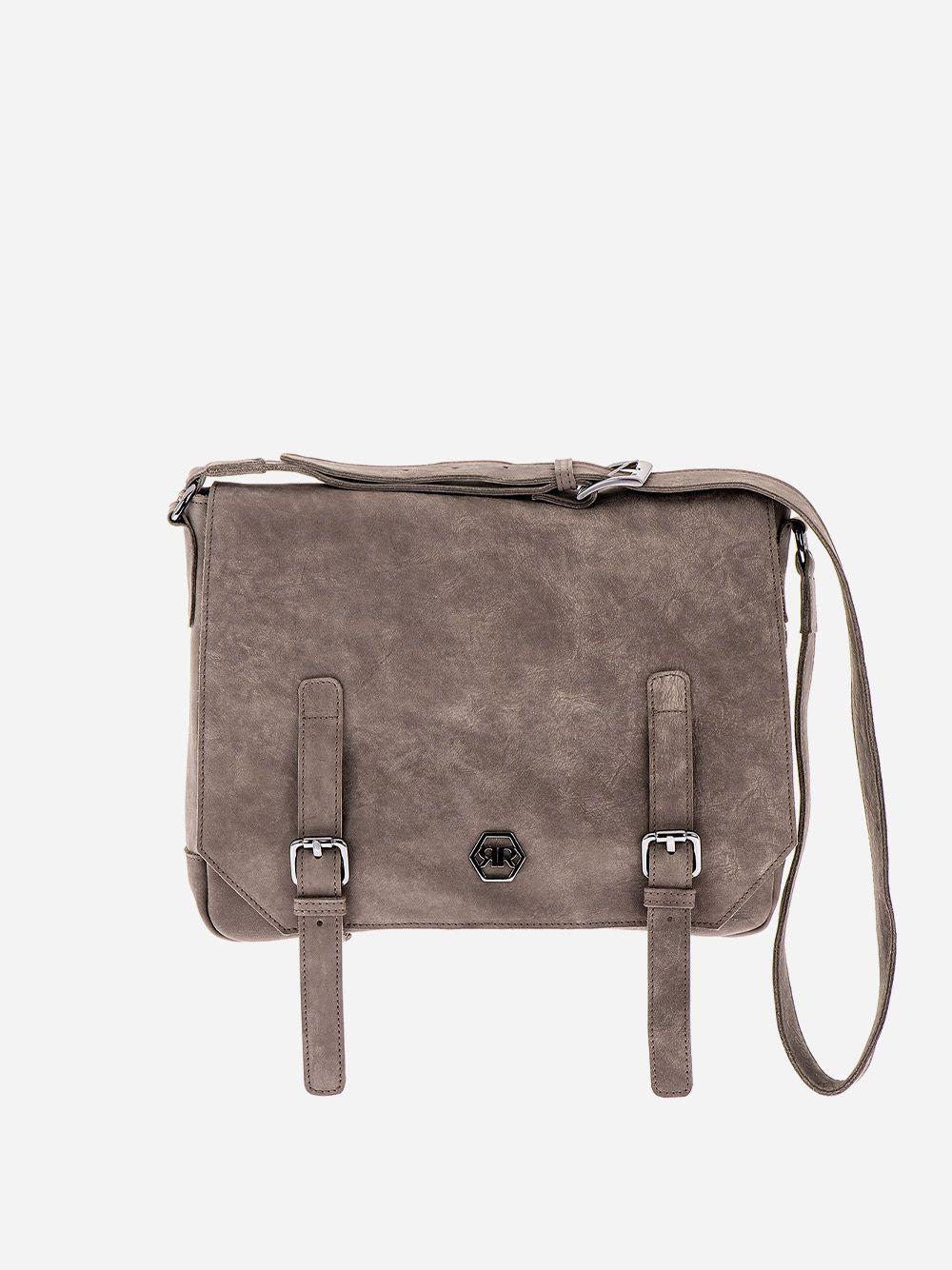 Rustic Grey Messenger Bag | Rufel