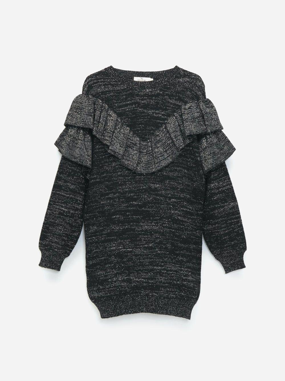 Ruffled Knitted Dress