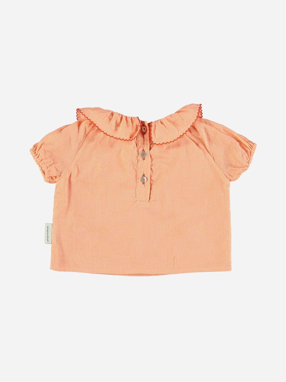 Shirt with Round Fringe Collar