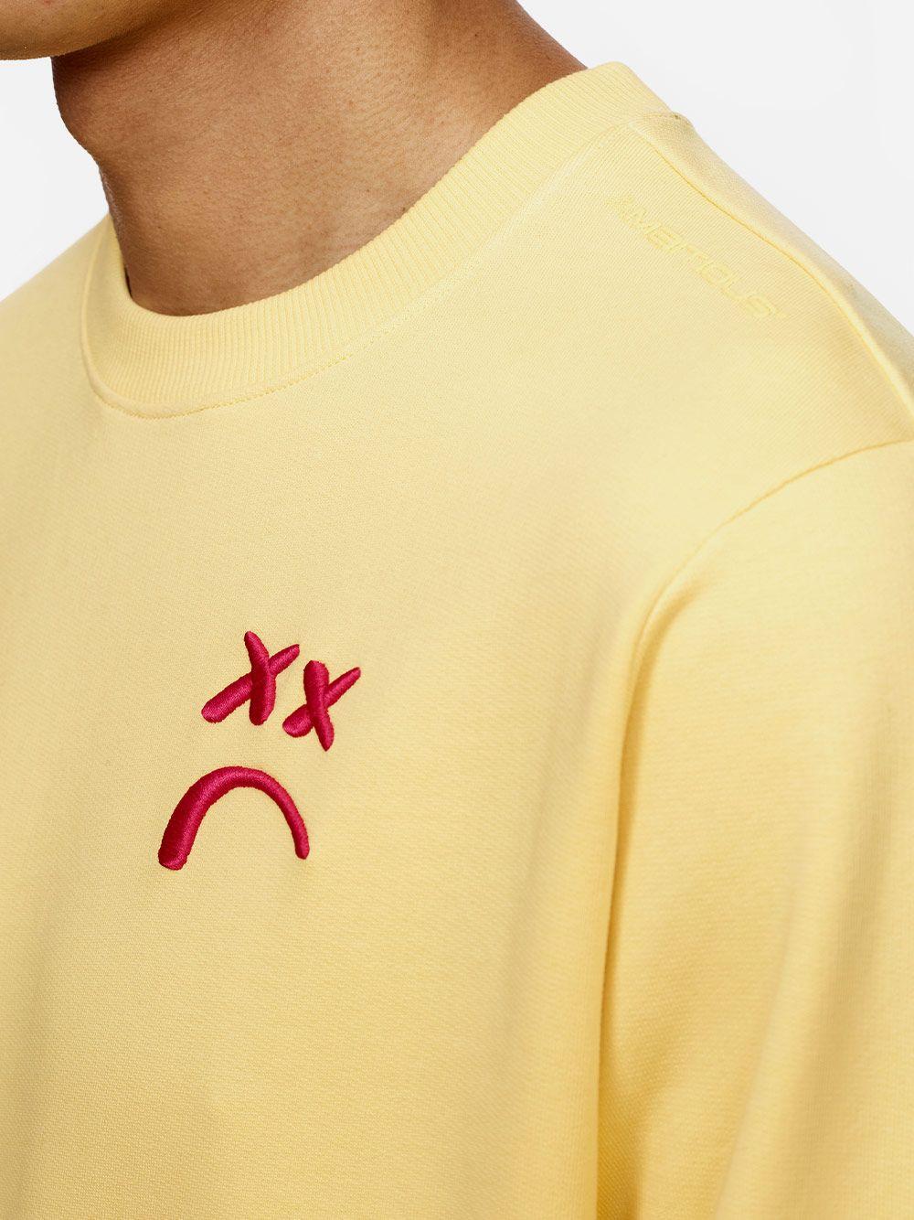 Sweat Amarela Com Bordado   AMBITIOUS