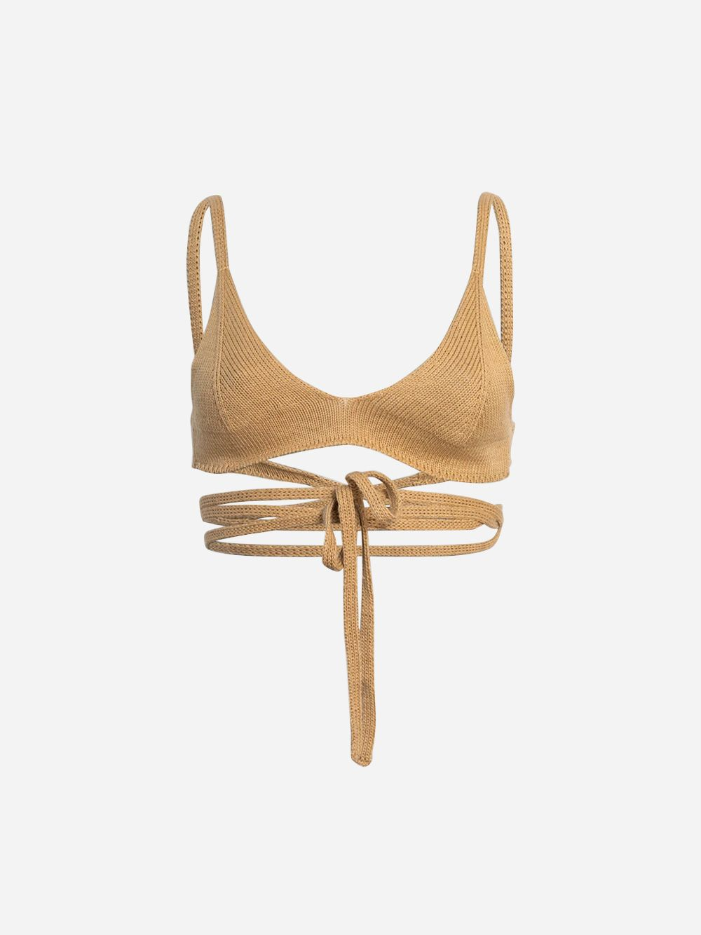 Tan Knitted Bralette
