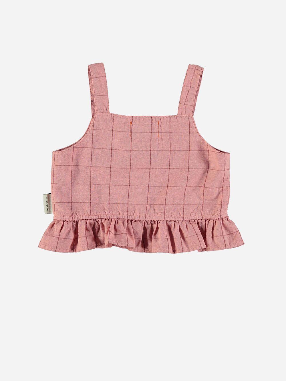 Top Pink & Garnet Checkered
