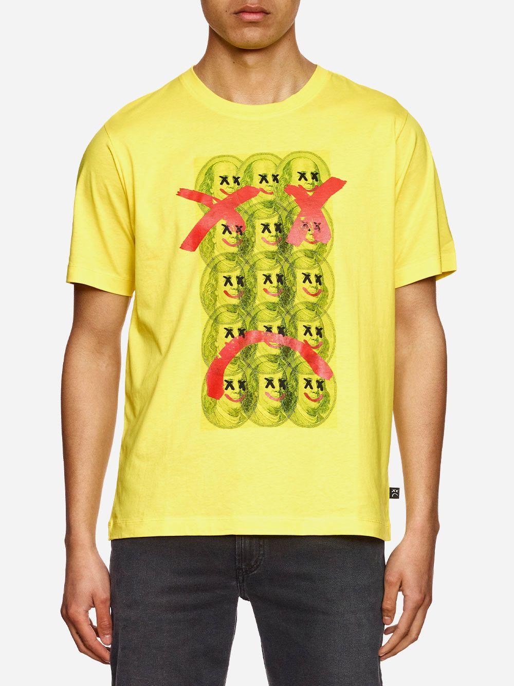 T-Shirt Amarela Estampada | AMBITIOUS