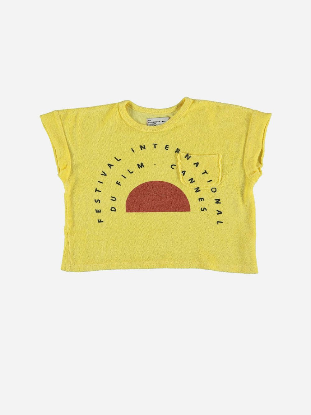 Terry Cotton T-shirt Yellow