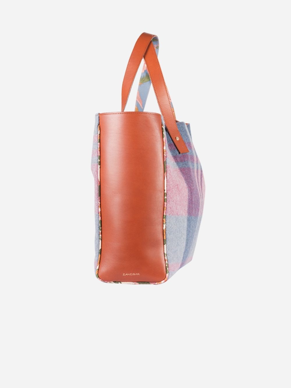 Checked Pink Bag   Zanzibar