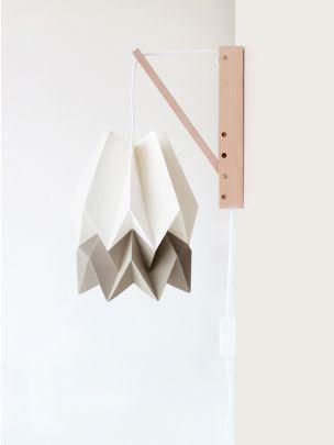 Candeeiro de Parede Bicolor Taupe   Orikomi