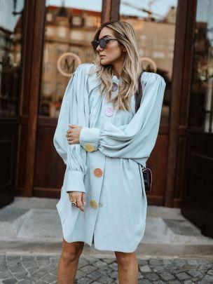 Vestido Casaco Azul Claro | Kaoâ