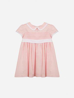 Cotton Satin Pink Dress   Patachou