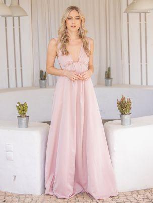 Vestido Comprido Rosa   Mauî