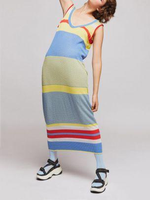Vestido Riscado em Malha Jacquard | Susana Bettencourt