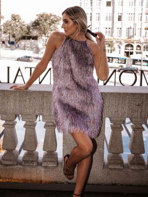 Vestido Franjas Multicolor | Kaoâ
