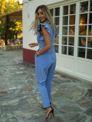 Macacão Azul com Fivela   Kaoâ