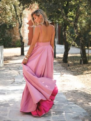 Vestido Dois Tons Rosa | Kaoâ