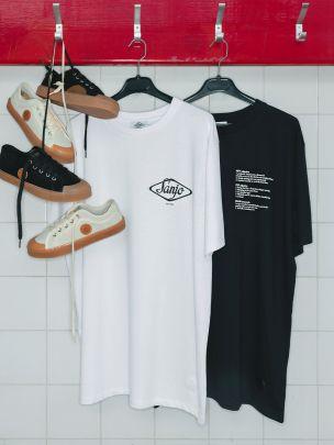 T-Shirt New Old Brand Preta | Sanjo