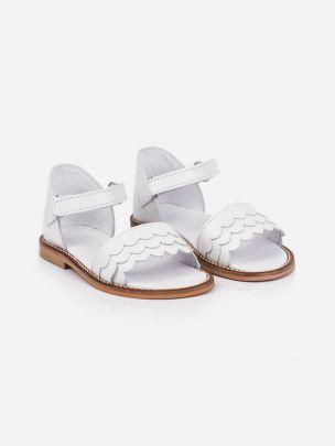 Sandália Branca com Velcro | Pikitri