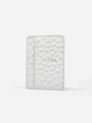 White Avestruz Card Holder Marc