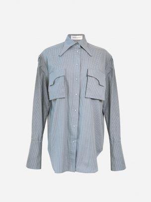 Azure Plaid Shirt