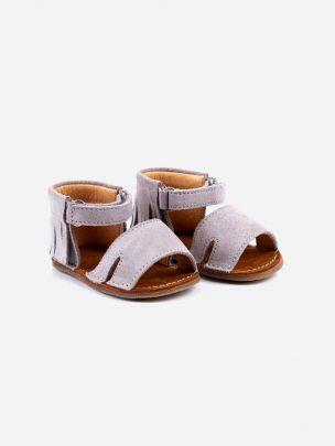 Sandália Cinza Franjas com Velcro | Pikitri
