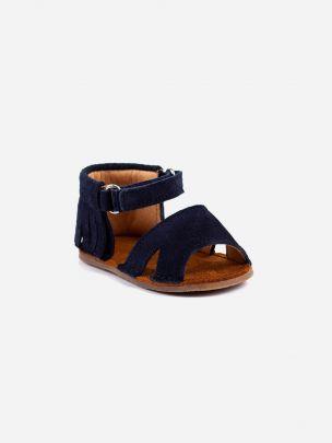 Sandália Azul Franjas com Velcro | Pikitri