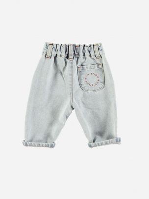 Baby Unisex Trousers Light Blue Washed Denim