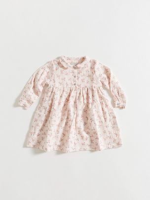 DRESS / PINK FLOWERS GAUZE   Grace Baby and Child