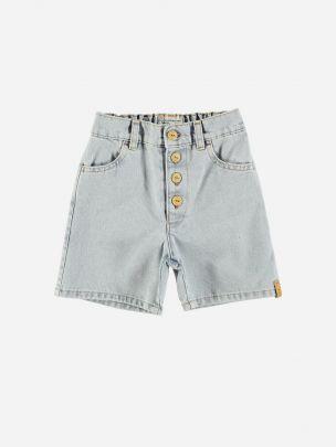 Boy Shorts Light Blue Washed Denim