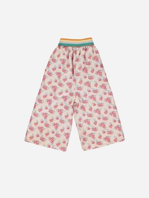 Culottes Pale Pink with Flowers