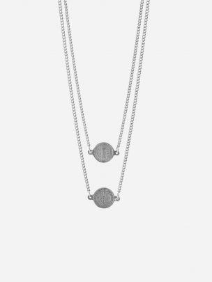 Silver Necklace Scapular | Dicci