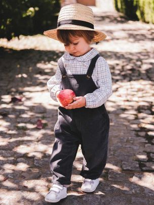 DUNGAREES / ASH CORDUROY   Grace Baby and Child