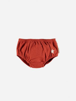 Baby High Waisted Shorties Garnet Tricolor Print