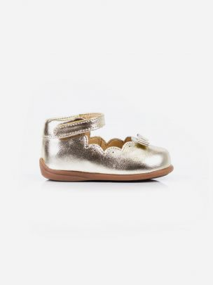 Sapato Sabrina Dourado Laço | Pikitri