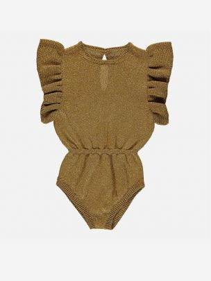 Knitted Playsuit Golden