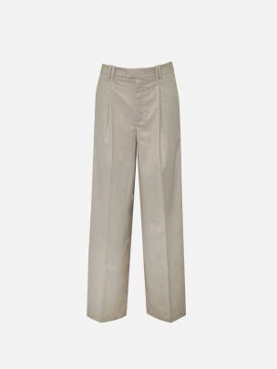 Pleated Beige Trousers