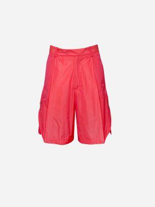 Pink Fluor Side Detail Shorts