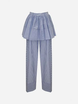 Ruffle Frill Baby Blue Trousers