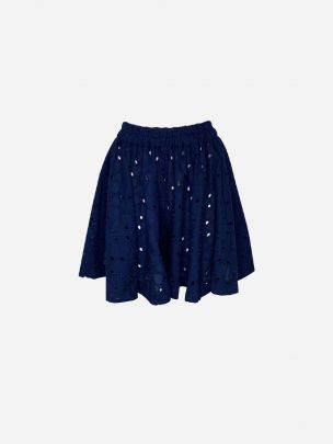 Blue Godé Shorts with Side Opening