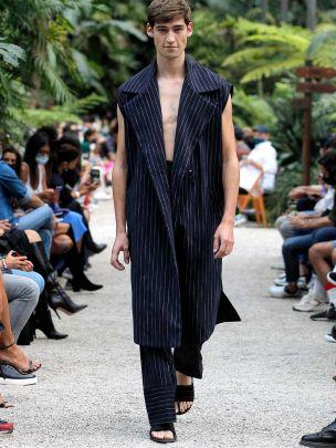 Oversize Long Striped Vest