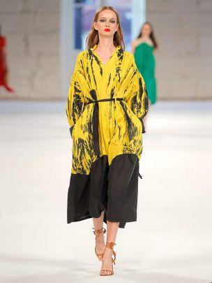 Vestido Amarelo com Estampado | Meam