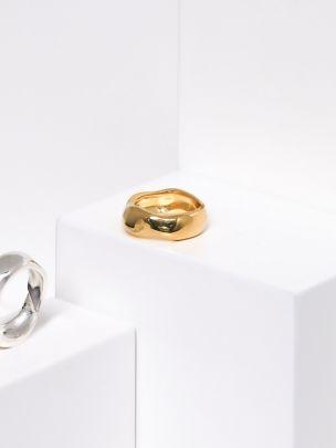 Anel Irregular Dourado | HLC Lisbon